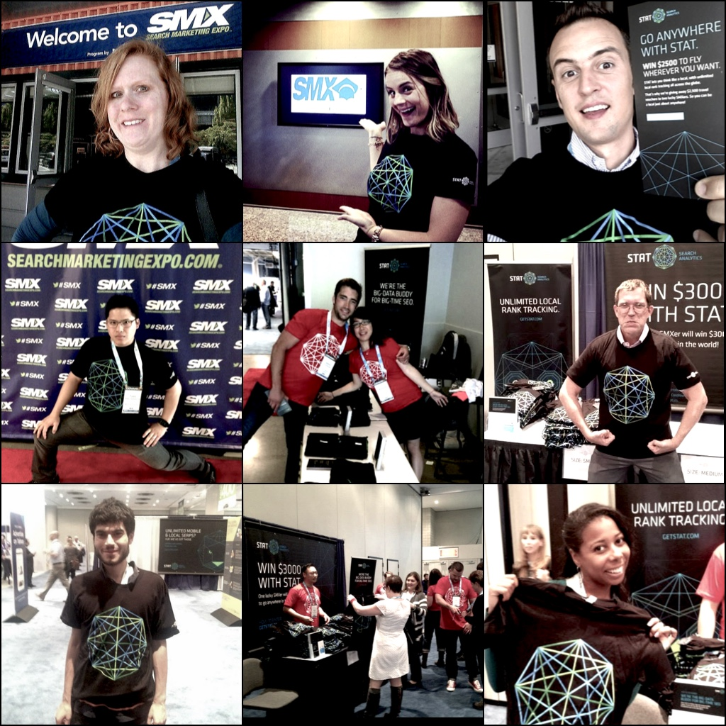 Just a few of the fine folks sporting STAT tees from past SMX events.