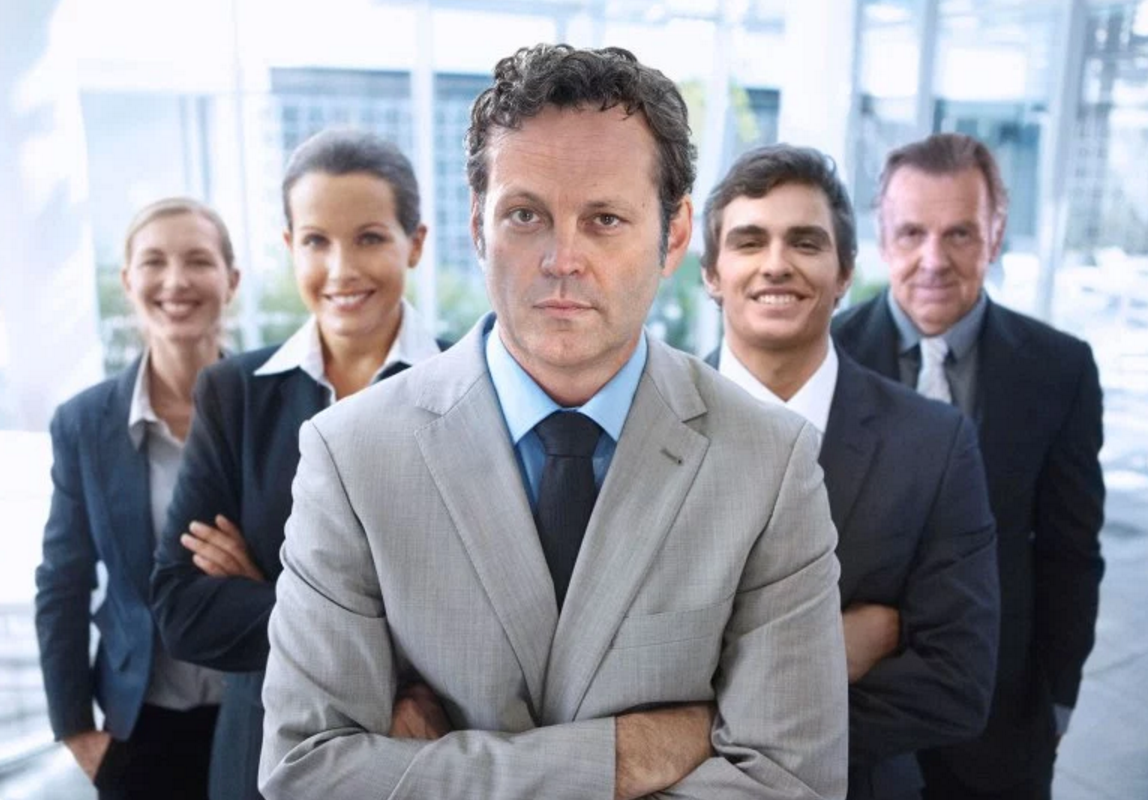 Stock image of business people